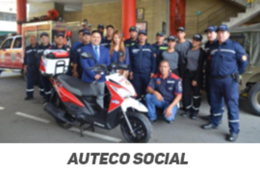Cuerpo de bomberos de Itagüí cuenta con motocicleta de emergencia gracias a iniciativa de Auteco social
