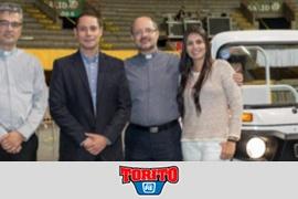 Entregado y bendecido el motocarro que Auteco puso a disposición del papa Francisco en Medellín