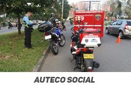 Motocicletas de emergencia atendieron más de 400 personas en Antioquia, durante el 2017