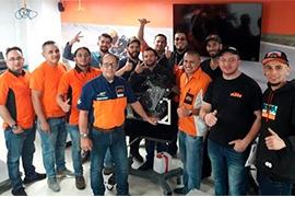 KTM realiza entrenamientos técnicos en Universidad Corporativa Auteco