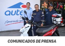 Auteco dota a cuerpo de bomberos de Copacabana  con moto de emergencia