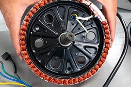 Partes del motor de una moto eléctrica Stärker