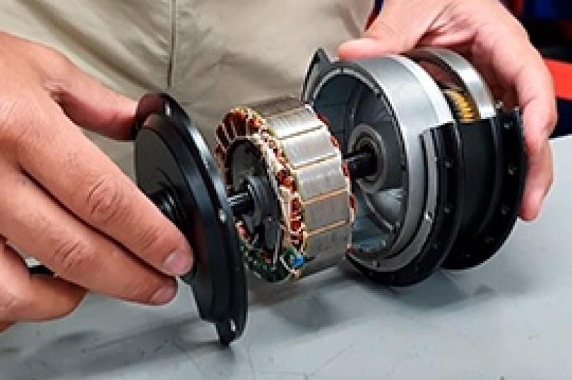 Componentes del motor de una bicicleta eléctrica Stärker
