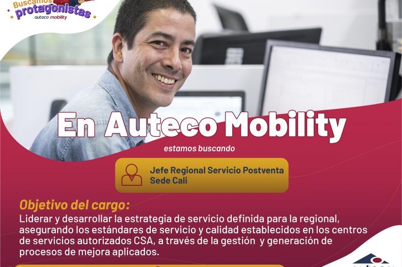 Buscamos protagonistas: Jefe regional Servicio Posventa en Cali