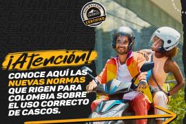 Conoce la nueva resolución sobre el uso correcto del casco para moto en Colombia